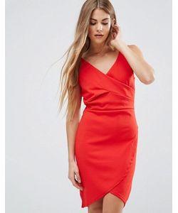 Wal G | Платье С Драпировкой Спереди