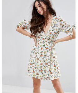 Fashion Union | Платье Мини С Цветочным Принтом И Рюшами