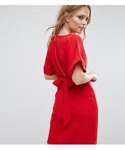 Closet London | Платье Миди С Рукавами-Кимоно И Поясом На Спине Closet