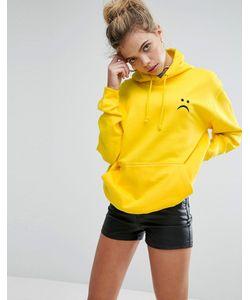 Adolescent Clothing | Oversize-Худи С Вышивкой В Виде Грустного Лица