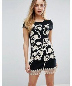 Jasmine | Цельнокройное Платье С Цветочной Отделкой И Кружевом Кроше