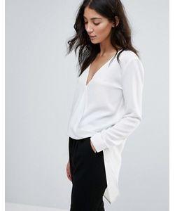 Unique 21 | Рубашка С Драпировкой Спереди И Удлиненным Краем
