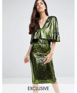 Club L | Платье Миди С Пайетками