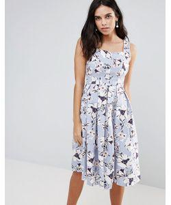 Vesper | Приталенное Платье Миди С Цветочным Принтом