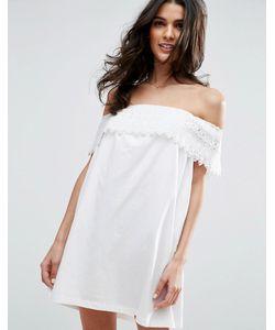 Asos | Платье С Кружевной Отделкой