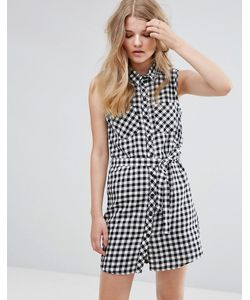 JDY | Платье-Рубашка В Клеточку С Поясом J.D.Y