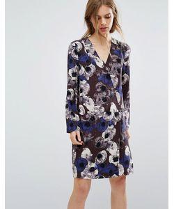 Selected | Платье С Цветочным Принтом Femme
