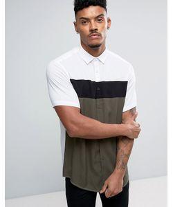 Asos | Вискозная Рубашка Классического Кроя Со Вставками