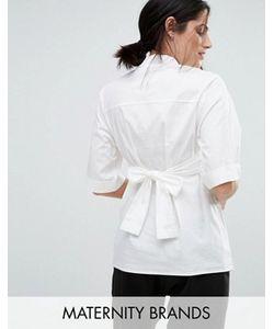 Mama Licious | Mamalicious Tie Detail Tailored Shirt
