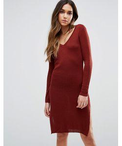 Vero Moda | Платье Миди С V-Образным Вырезом И Длинными Рукавами