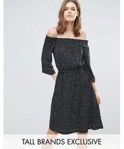 Y.A.S Tall | Платье В Горошек С Открытыми Плечами Abby