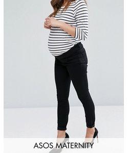 Asos | Черные Укороченные Джинсы С Классической Талией Maternity Lisbon