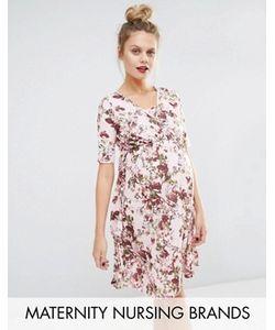 Bluebelle Maternity | Платье С Цветочным Принтом И Запахом Для Беременных И Кормящих Bluebelle