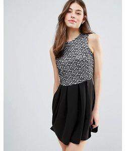 Hedonia   Короткое Приталенное Платье С Блестящей Отделкой
