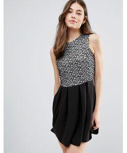 Hedonia | Короткое Приталенное Платье С Блестящей Отделкой