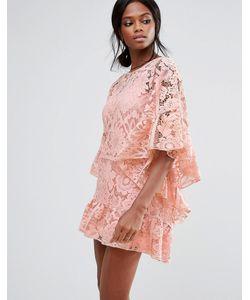 MISSGUIDED | Кружевное Платье С Рукавами-Кимоно
