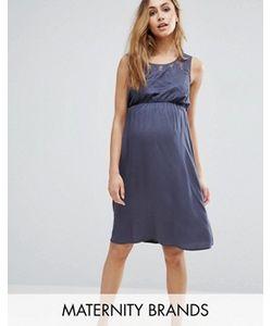 Mama Licious | Короткое Приталенное Платье Без Рукавов С Отделкой Кроше Mama.Licious