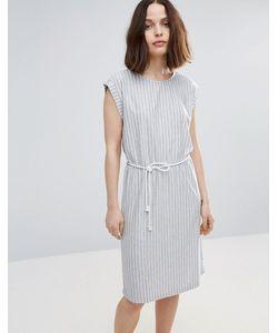 Soaked In Luxury | Короткое Приталенное Платье В Полоску С Поясом