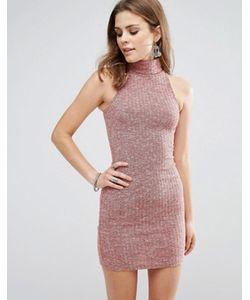 Glamorous | Облегающее Платье Без Рукавов С Высоким Воротом