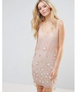 Glamorous | Расшитое Бисером Платье Мини
