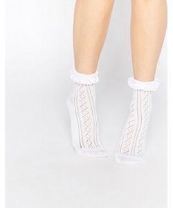 Asos | Кружевные Носки С Оборкой