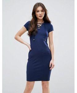 Qed London | Платье На Шнуровке Спереди