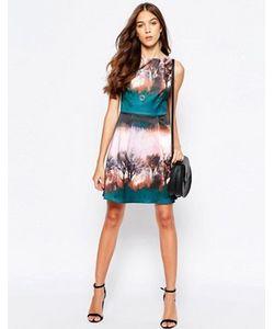 Yumi | Приталенное Платье С Принтом