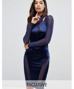 NaaNaa | Платье-Футляр С Высокой Горловиной И Вырезами