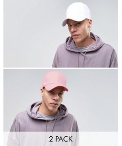 GREGORYS | 2 Кепки Белая/Розовая