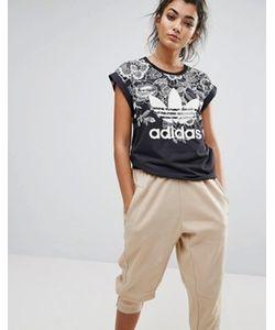 Adidas | Футболка С Цветочным Принтом Farm