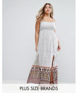 Diya | Платье Макси С Разрезами Plus