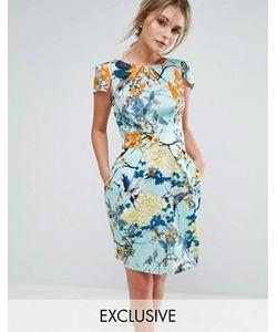 Closet London | Короткое Приталенное Платье С Короткими Рукавами И Принтом