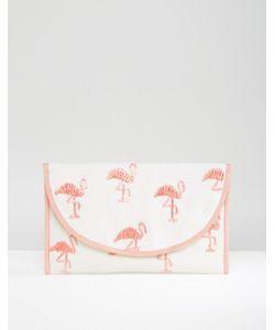 Asos | Клатч С Вышивкой Фламинго Beach