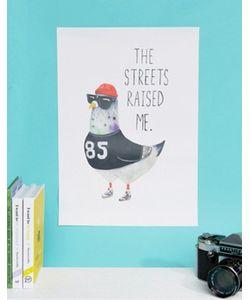 Jolly Awesome | Настенная Декорация С Надписью The Streets Raised Me Размера 29.5 См