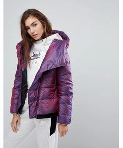Nike | Короткая Дутая Куртка С Асимметричной Молнией