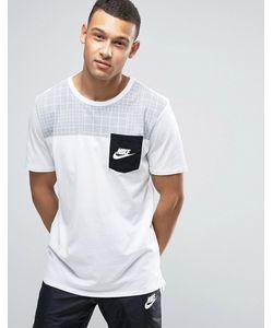Nike | Футболка С Карманом В Стиле Колор Блок 834727-101