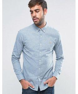 Farah | Серая Оксфордская Рубашка C 2-Цветным Плетением Steen