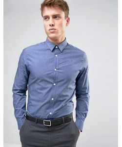 New Look | Строгая Синяя Рубашка Классического Кроя