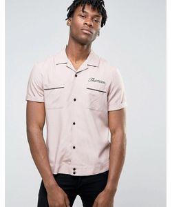 Asos | Вискозная Рубашка Классического Кроя С Вышивкой 13 Сзади