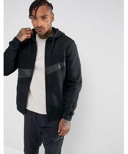 Nike | Худи Черного Цвета С Молнией Hybrid 861712-011