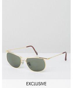 Reclaimed Vintage | Солнцезащитные Очки В Квадратной Золотистой Оправе