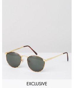Reclaimed Vintage | Круглые Солнцезащитные Очки В Черной Оправе