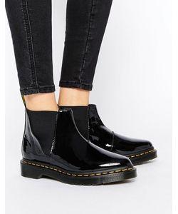 Dr. Martens | Черные Лакированные Ботинки Челси Bianca