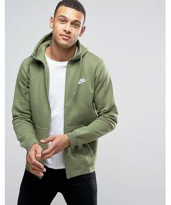 Nike | Зеленое Худи С Вышитым Логотипом 804389-387