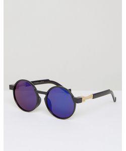 7X | Круглые Солнцезащитные Очки С Синими Стеклами