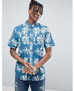 Vans | Синяя Рубашка С Гавайским Принтом Jt Solana Va315w3mc