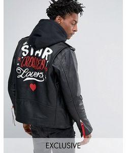 Reclaimed Vintage | Черная Кожаная Байкерская Куртка Inspired X Romeo Juliet