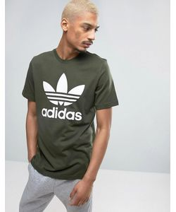 adidas Originals | Зеленая Футболка С Логотипом-Трилистником Bq5394