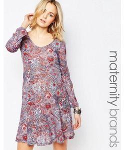Mama Licious   Платье Для Беременных С Длинными Рукавами И Принтом Пейсли Mamalicious