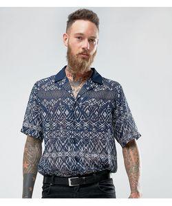 Reclaimed Vintage   Рубашка С Отложным Воротником С Геометрическим Принтом